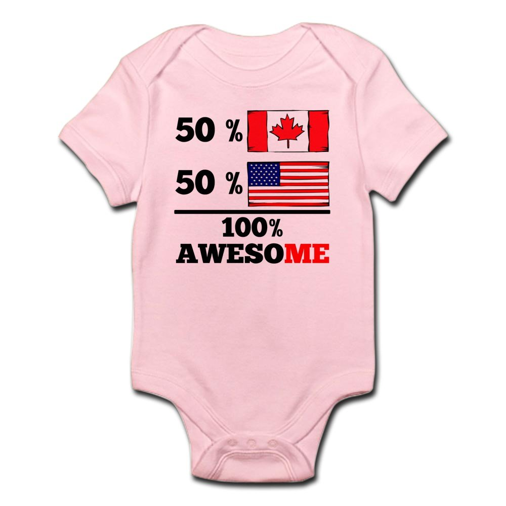 CafePress - Half Canadian Half American Body Suit - Cute Infant Bodysuit Baby Romper