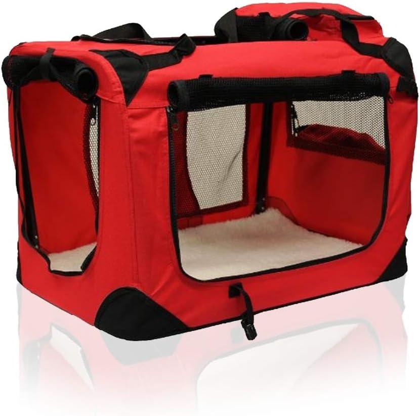 Medium, Black AVC Portable Soft Fabric Pet Carrier Folding Dog Cat Puppy Travel Transport Bag
