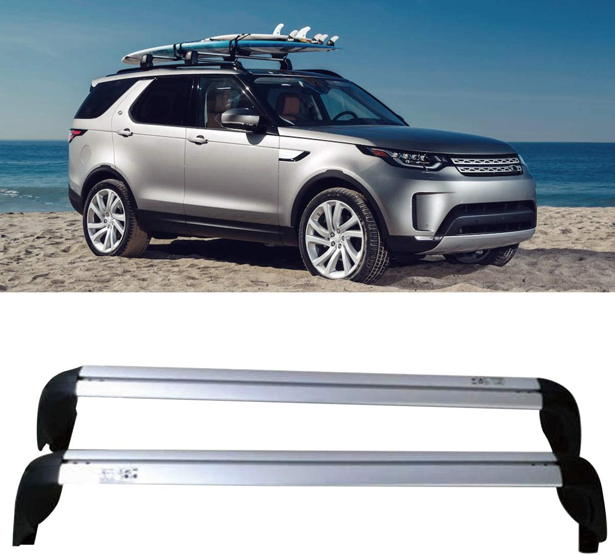 Pair Aluminum Cross Bars for Land Rover Discovery 5 2017-2019 Luggage