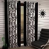 Inira Trendz Patta Modern Eyelet Door Curtains 2 Piece (Dark Coffee, 4x7ft)