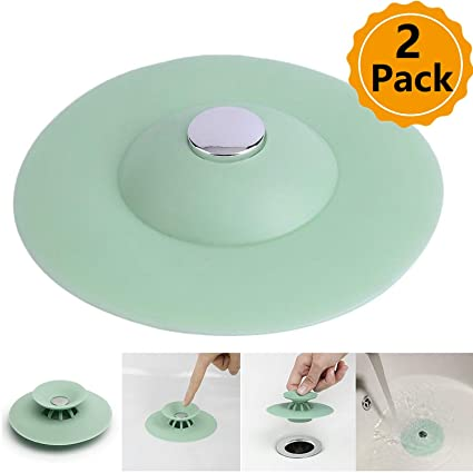 Amazon Com 2pcs Shower Drain Stopper Plug Bathtub Cover Portable