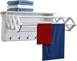 Danya B Accordion Clothes Drying Rack, Retractable, Wall Mounted Drying Rack