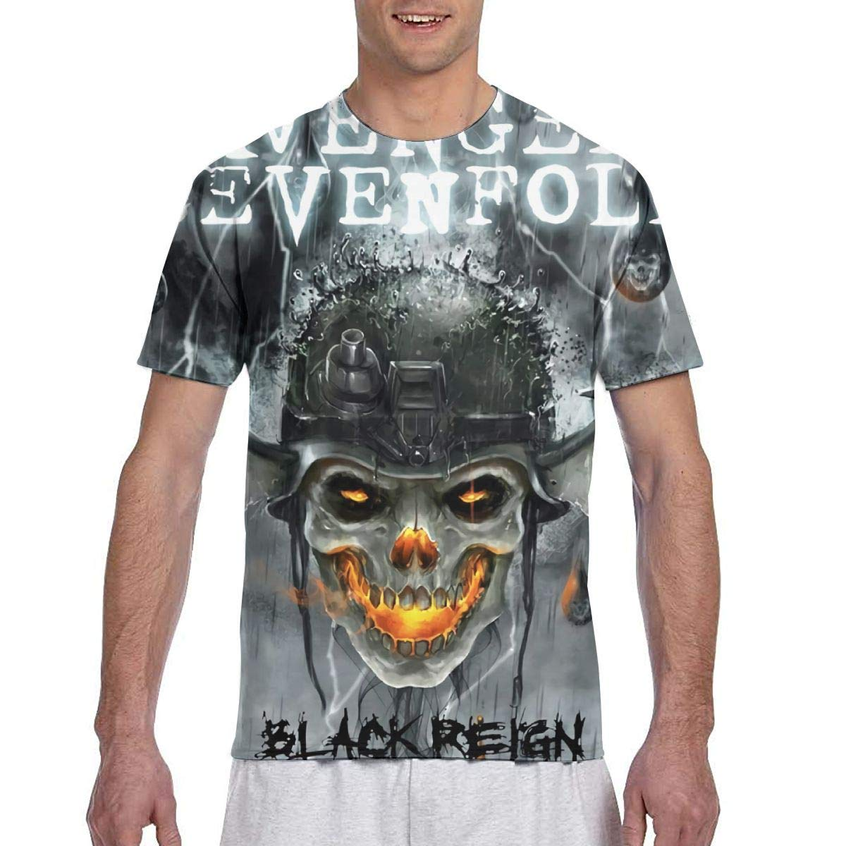 Men's Avenged Sevenfold Black Reign Custom Particular Short Sleeve T-Shirt