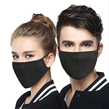 Smoke 2 Dust Washable Anti Mask - Filter Of For Allergy Pack Pollution Ayupra Air Black