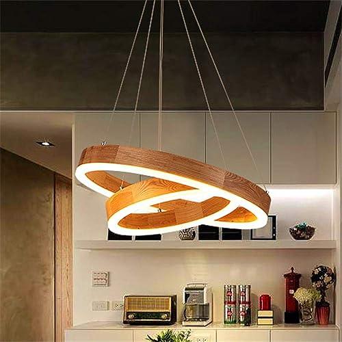 BAYCHEER Modern Wood LED Pendant Light Natural Decoration Creative Chandelier Light 2 Lights Indoor Pendant Lighting