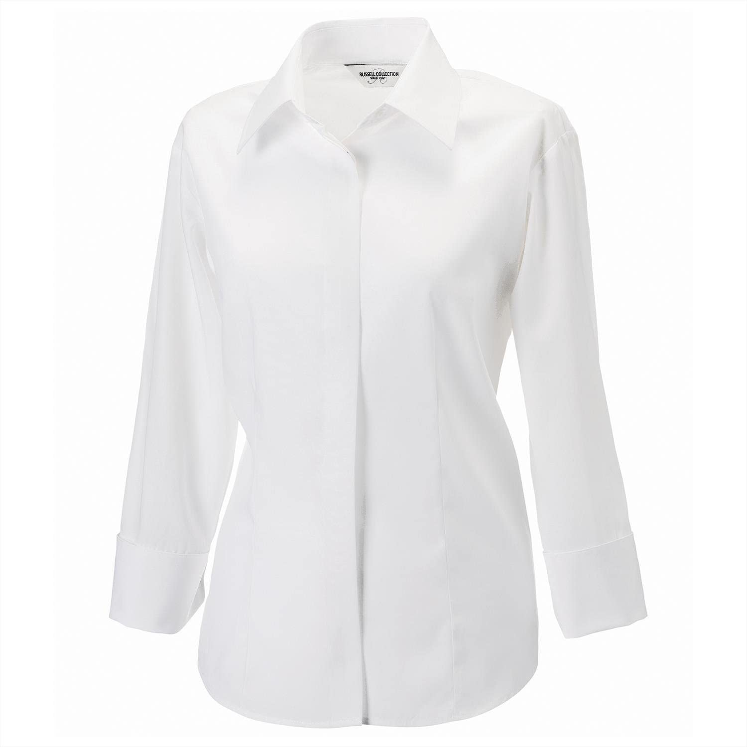 Russell Collection Womens Sleeve Tencel Shirt
