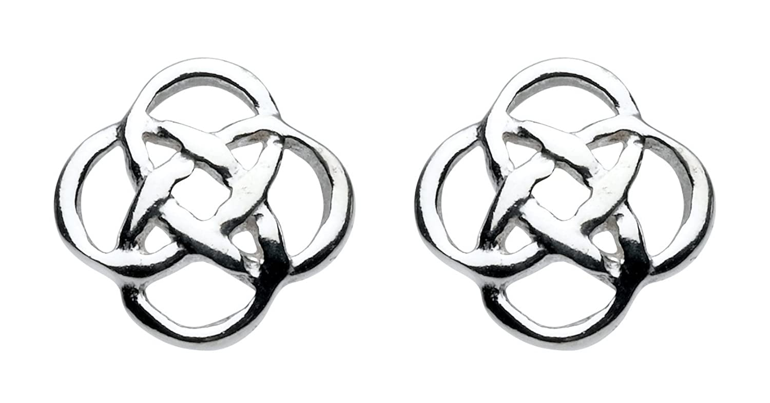 Heritage Women's Sterling Silver Celtic Stud Earrings jk9MTtF3