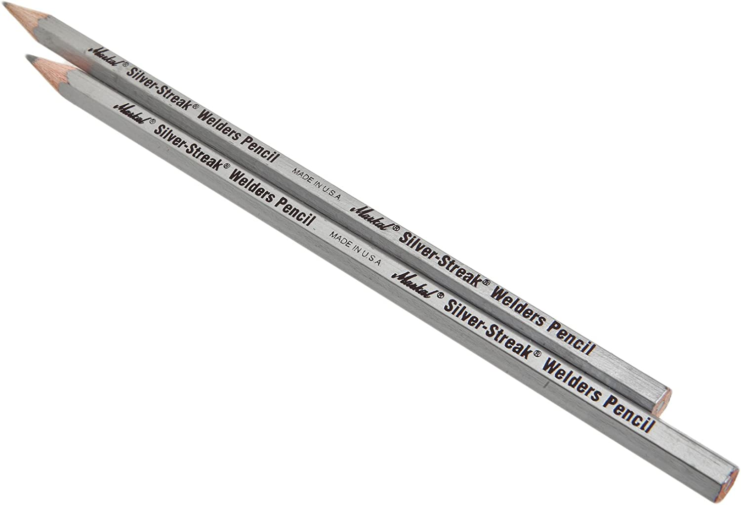 2-Pack Forney 70794 Marking Pencil Silver Lead