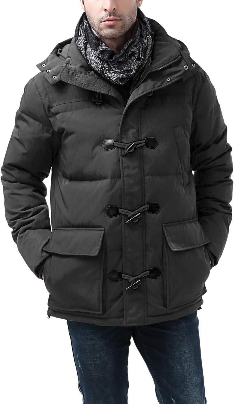 معطف رجالي من BGSD مزود بقلنسوة ومضاد للماء مزود بعروة سفلية (عادي وكبير وطويل)