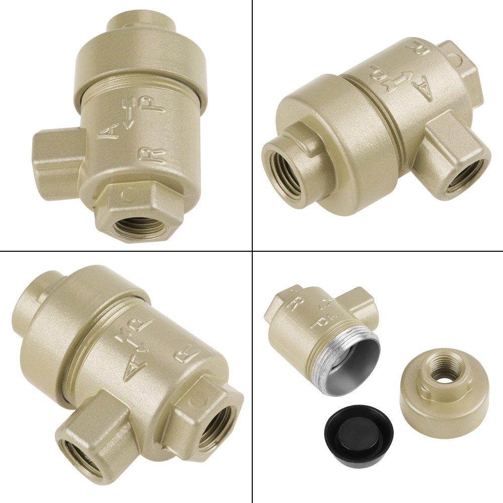 1//4BSPT Aluminium Einweg-Schnellablass-Abluftrohrventil Ersatzzubeh/ör BQE-02 Schnellentl/üftungsventil Notentl/üftungsventil Entl/üftungsventil