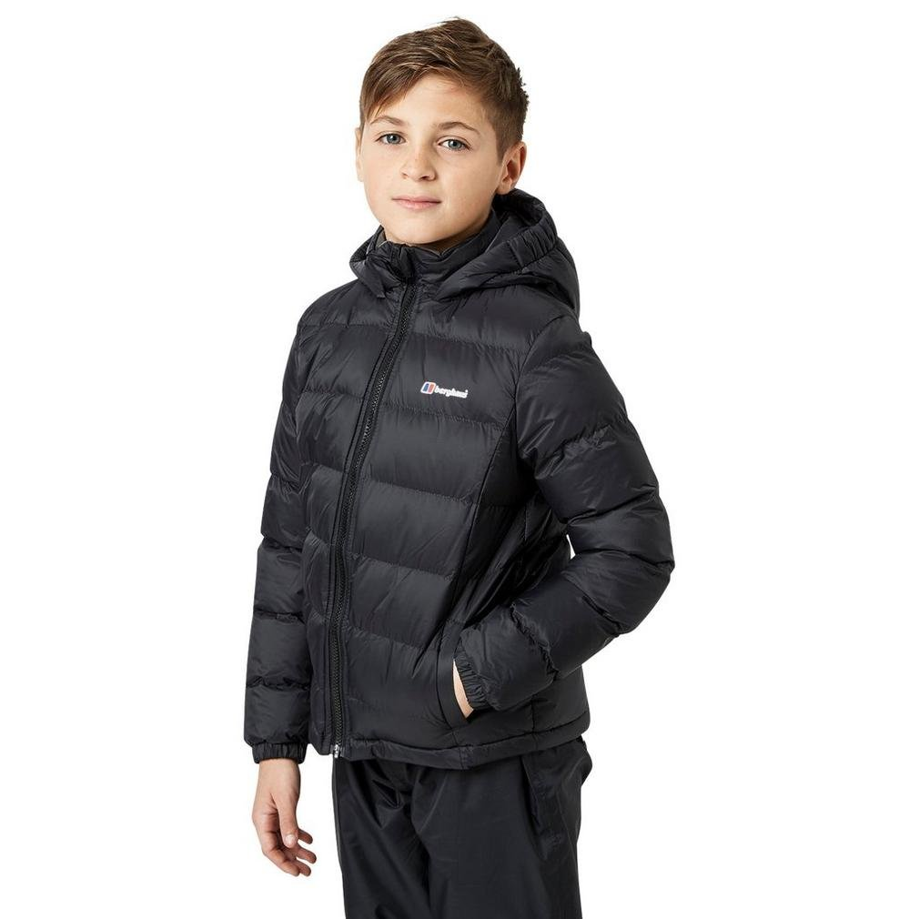 Berghaus Burham Insulated Junior Jacket, Black, 3-4 Years