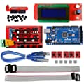 OSOYOO 3D Printer Kit with RAMPS 1.4 Controller + Mega 2560 board + 5pcs A4988 Stepper Motor Driver with Heatsink + 2004 LCD Display with Smart Adapter For Arduino RepRap