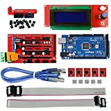 3D Printer Kit - OSOYOO 3D Printer Kit with RAMPS 1.4 Controller + Mega 2560 board + 5pcs A4988 Stepper Motor Driver with Heatsink + 2004 LCD Display with Smart Adapter For Arduino RepRap