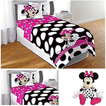 White And Gold Minnie Mouse Bedding