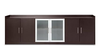 Credenza Con Puertas De Cristal : Mckinley credenza en madera de nogal importados con puertas