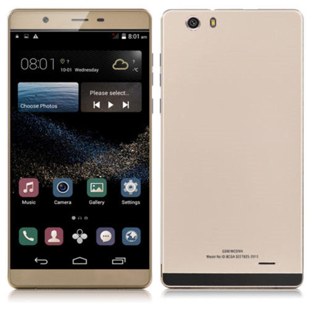 SORAKA Smartphone libre 6.0 pulgadas GSM 3G Android 5.1 Quad Core Dual SIM 5.0 MP(Oro): Amazon.es: Electrónica
