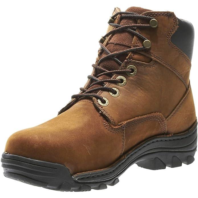 f0fb12cd799 Wolverine Men's Durbin Waterproof Steel- Toe Brown Boots