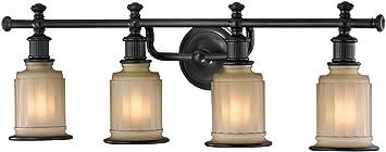 elk lighting 520134 acadia collection 4 bath light oil rubbed bronze - Oil Rubbed Bronze Bathroom Lighting