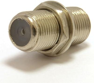 F Tipo Conector Acoplador para Joining Sat ONO Cables con Tuerca: Amazon.es: Electrónica