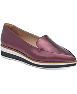 5d34064e5 DKNY Womens Seaport Platform Leather Pointed Toe Loafers