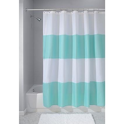 InterDesign Mildew Free Water Repellent Zeno Fabric Shower Curtain 72 Inch By