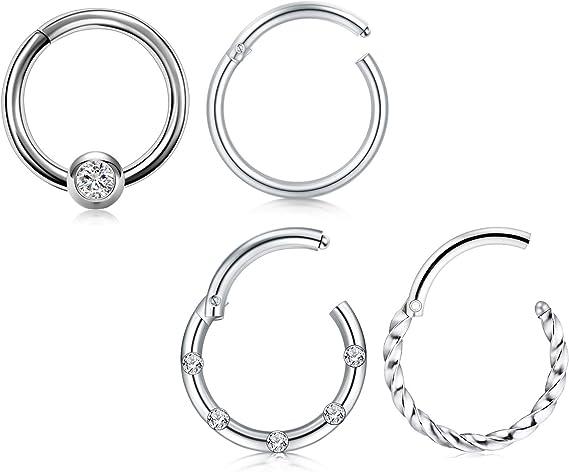 Septum Hoop Septum Clicker Hoop Daith Hoop Septum Jewelry Daith Jewelry Opal Septum Ring Surgical Steel Daith Clicker Earring
