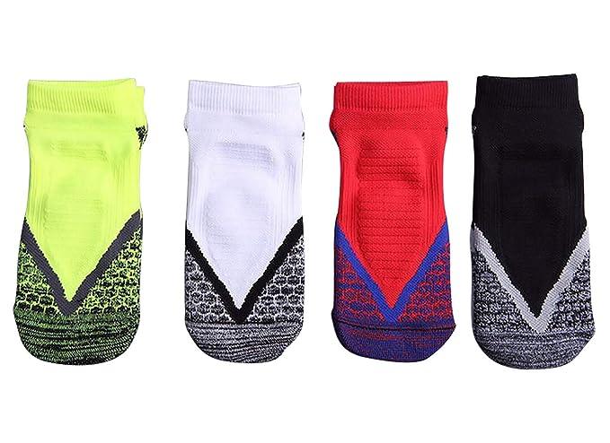 VLUNT Calcetines Deportivos Hombre, Transpirable Calcetine de Baloncesto, Tenis, Correr, Ciclismo,