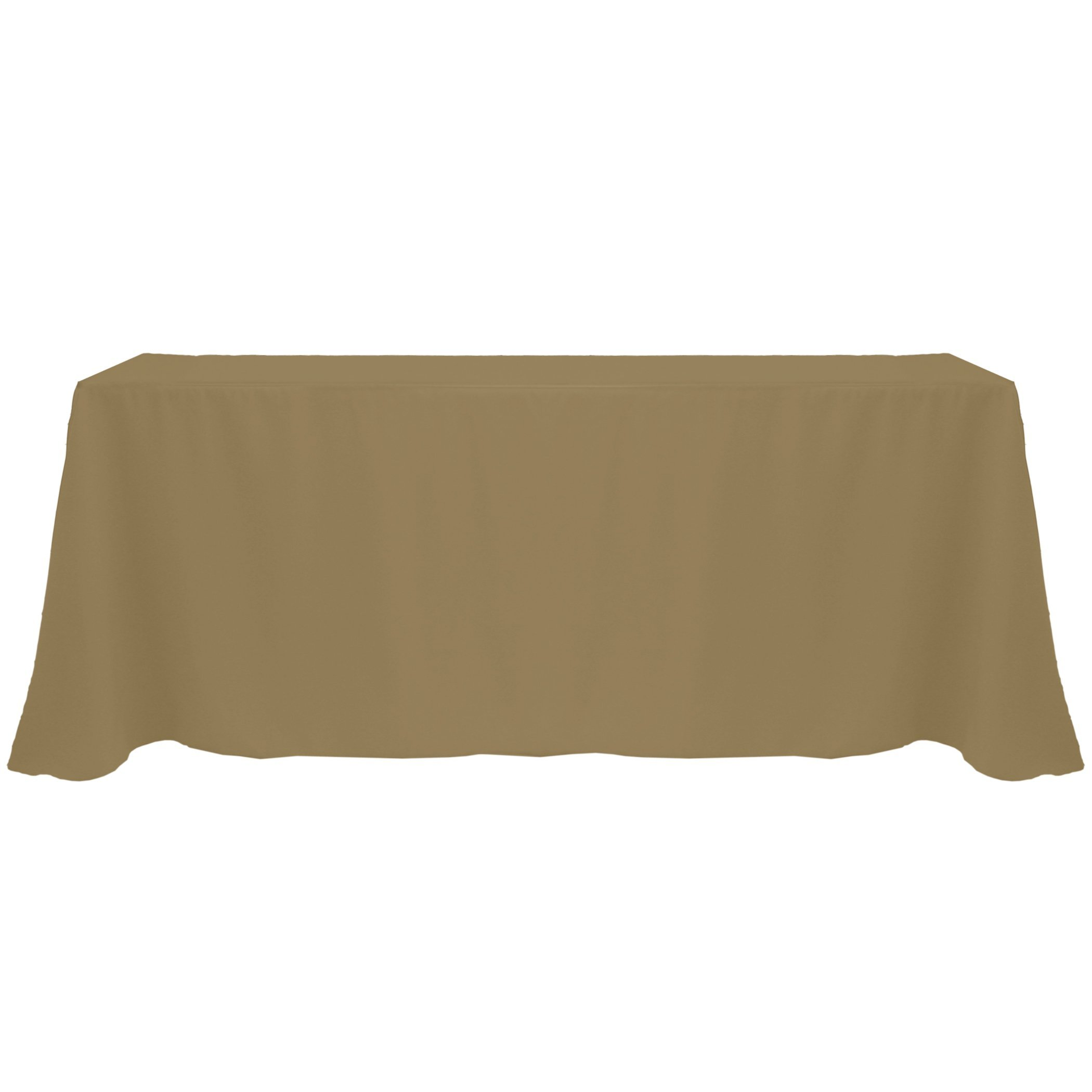 Ultimate Textile (20 Pack) 90 x 132-Inch Rectangular Polyester Linen Tablecloth with Rounded Corners - for Wedding, Restaurant or Banquet use, Cafe Khaki