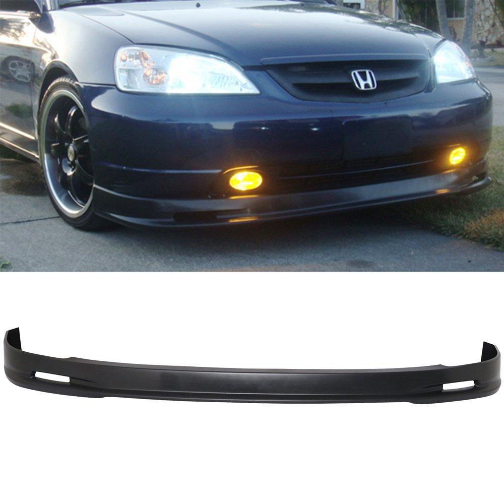 01-03 Honda Civic 2/4 Door MUG Style Urethane Add-On Front Bumper Lip Urethane