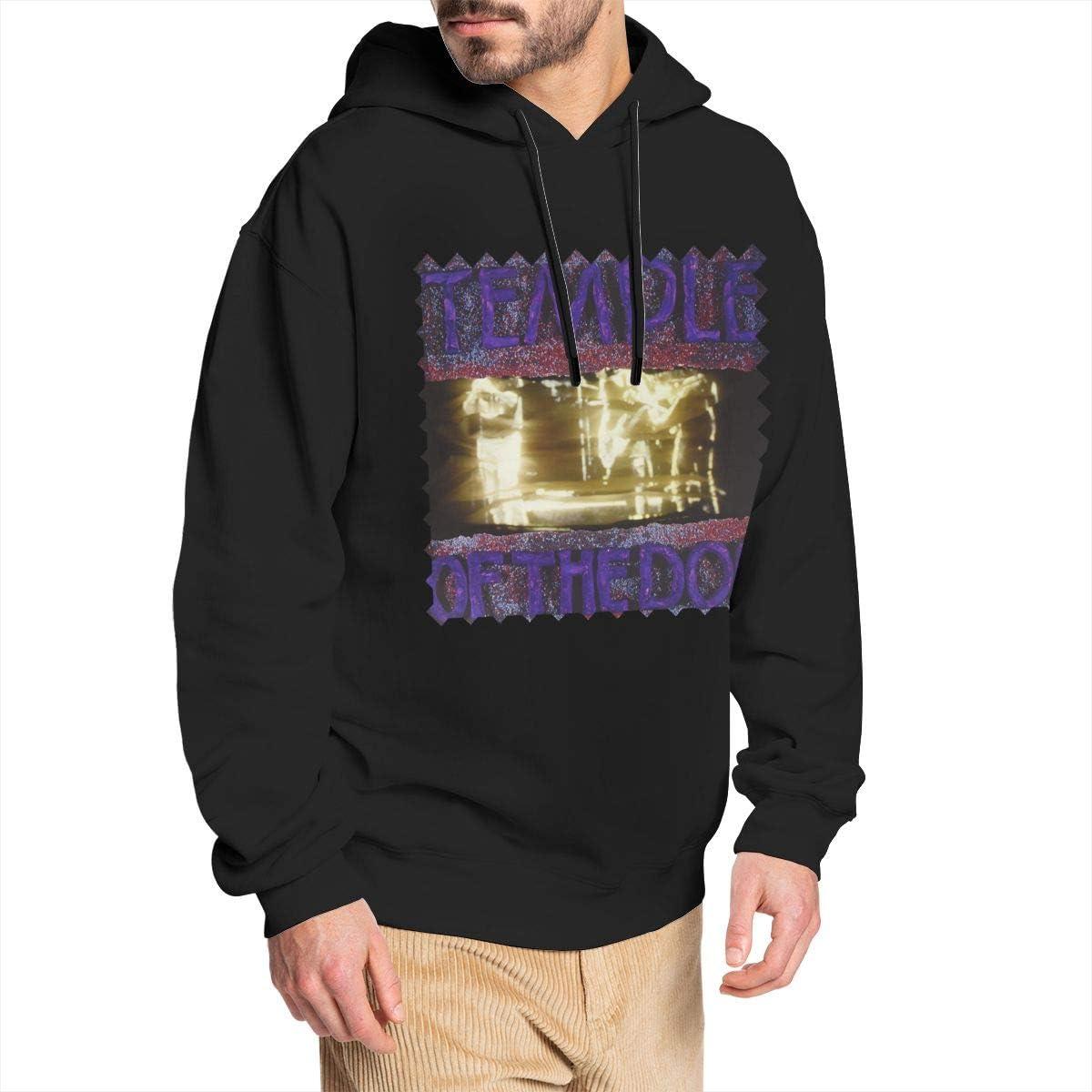 Zxcvbnm Temple-of-The-Dog Mens Hoodie Sweatshirt Black