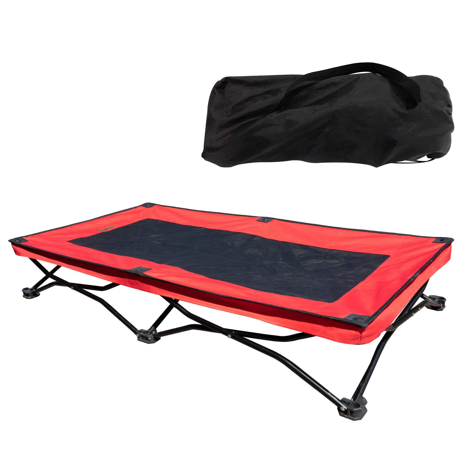 YEPHHO Large Elevated Folding Pet Bed Cot Travel Portable Breathable Cooling Mesh Sleeping Dog Bed 46 Inches Long