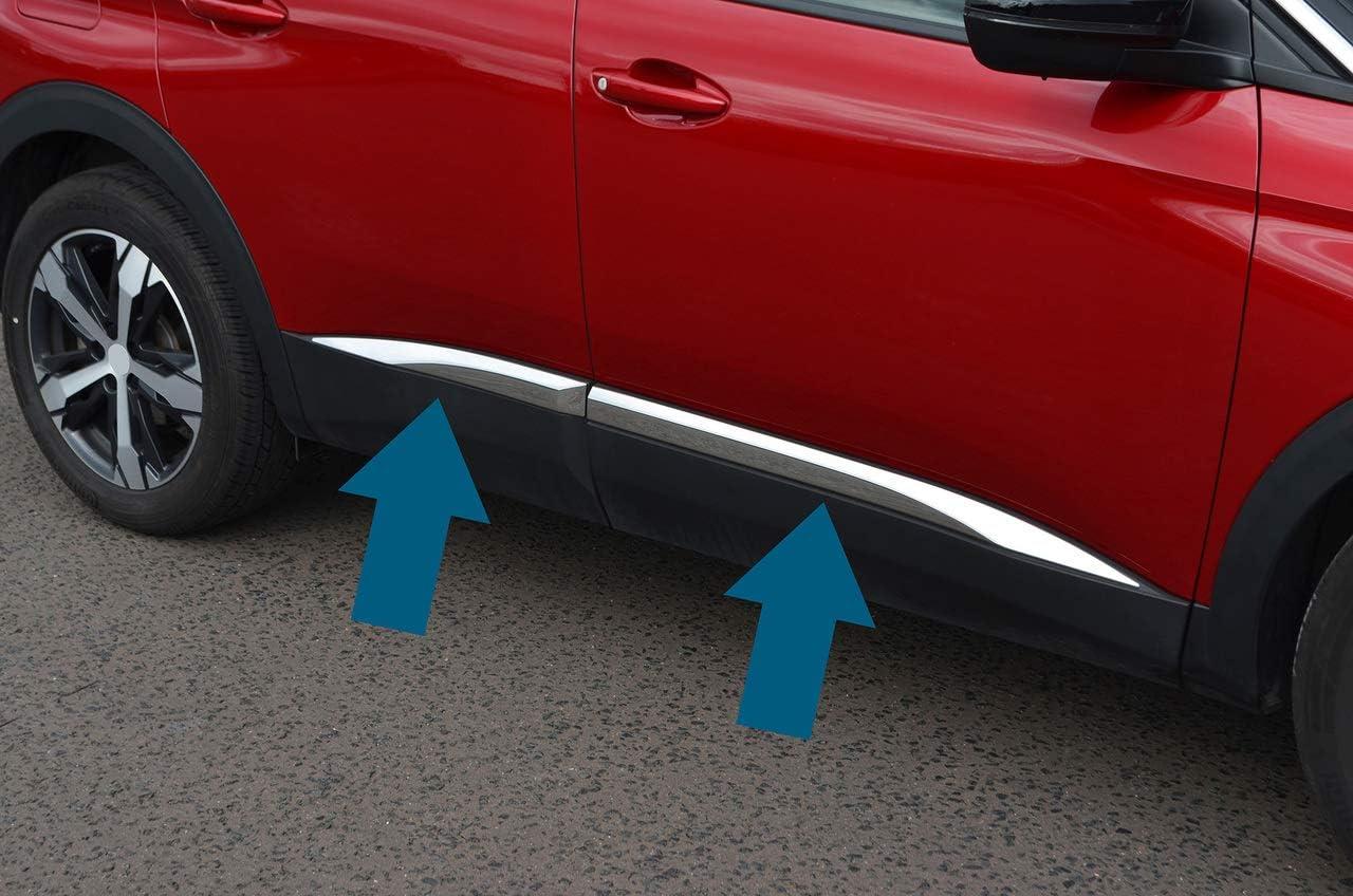 2017+ Chrome Side Door Streamer Trim To Fit 3008