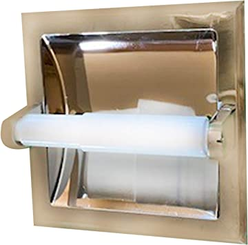 Aa Warehousing Tph15209 Recessed Toilet Paper Holder Chrome Amazon Com