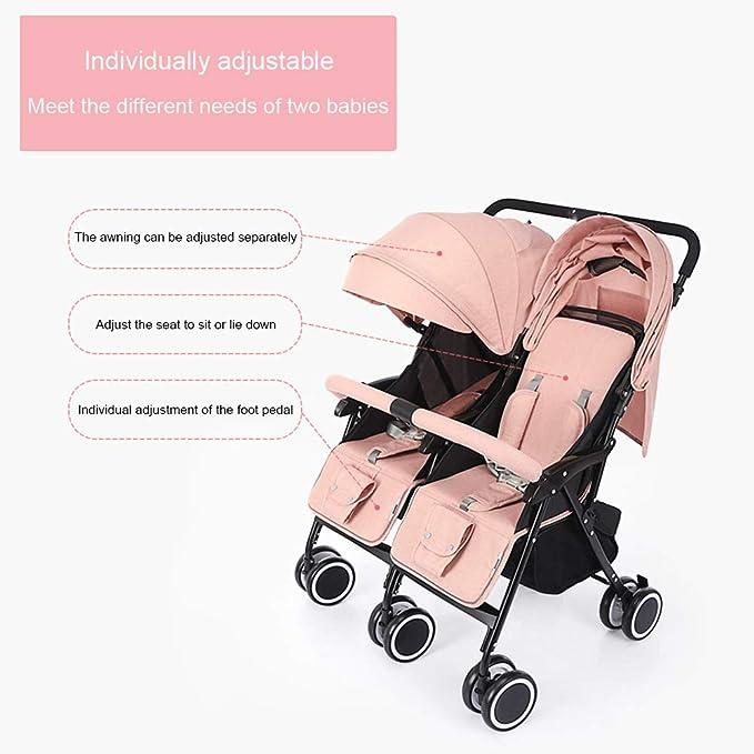 zxmpfg Cochecitos para bebés gemelos, hermanos y hermanas de
