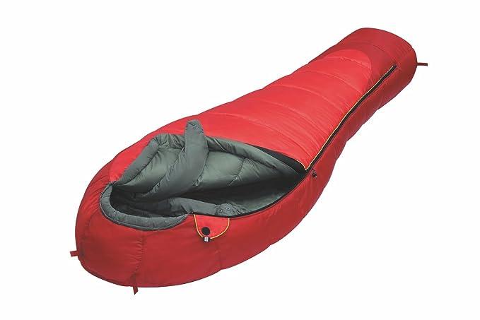 ALEXIKA 9228.0106R Iceland - Saco de dormir (cremallera en el lado derecho, 90 x 230 x 60 cm), color rojo y verde: Amazon.es: Ropa y accesorios