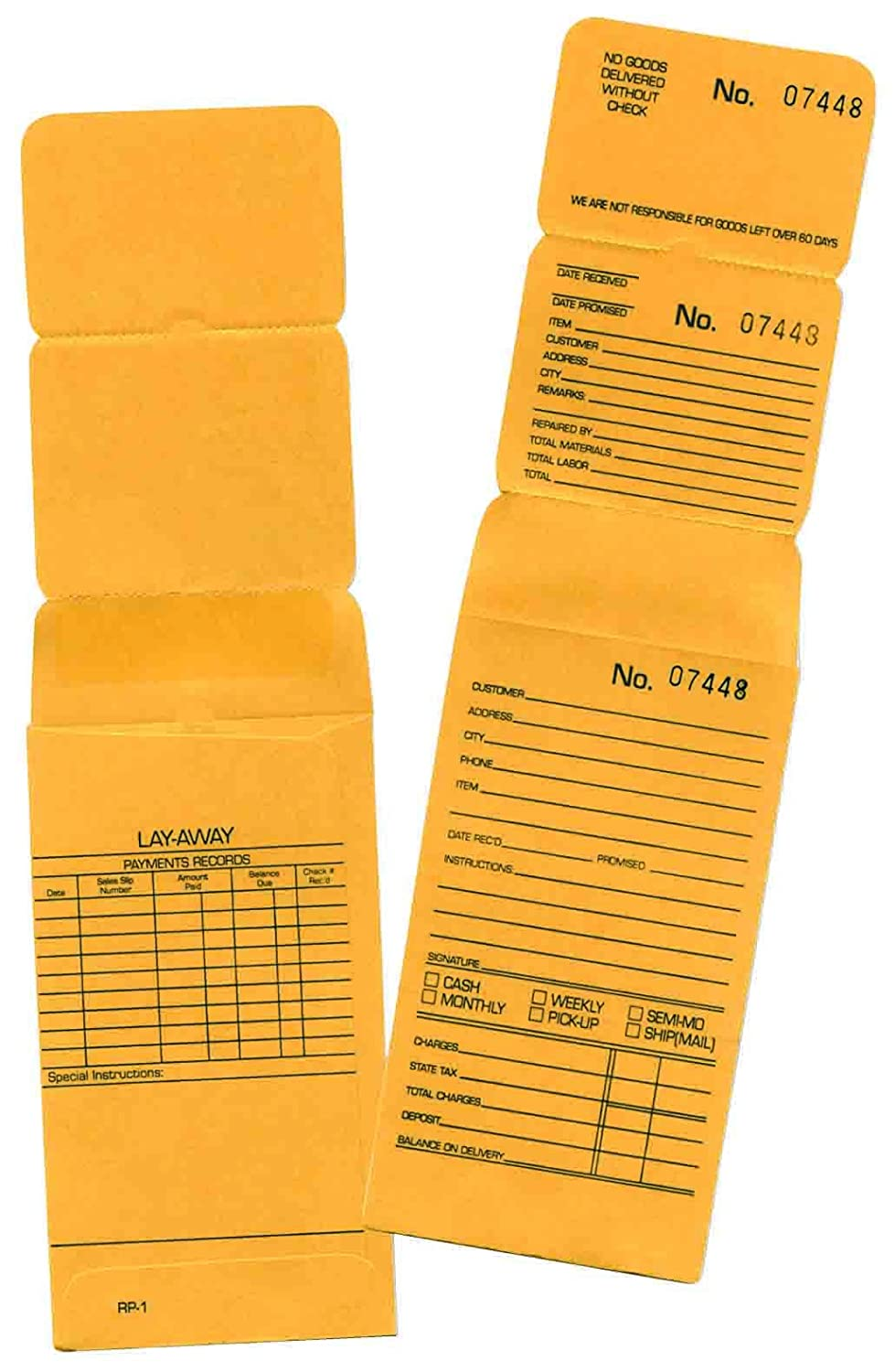 100 Jewelry Repair Envelopes Numbered bei Consecutive Order