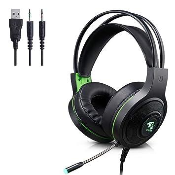 Mmhdz Auriculares para Juegos con micrófono para PS4 Xbox One PC, Auriculares con micrófono con