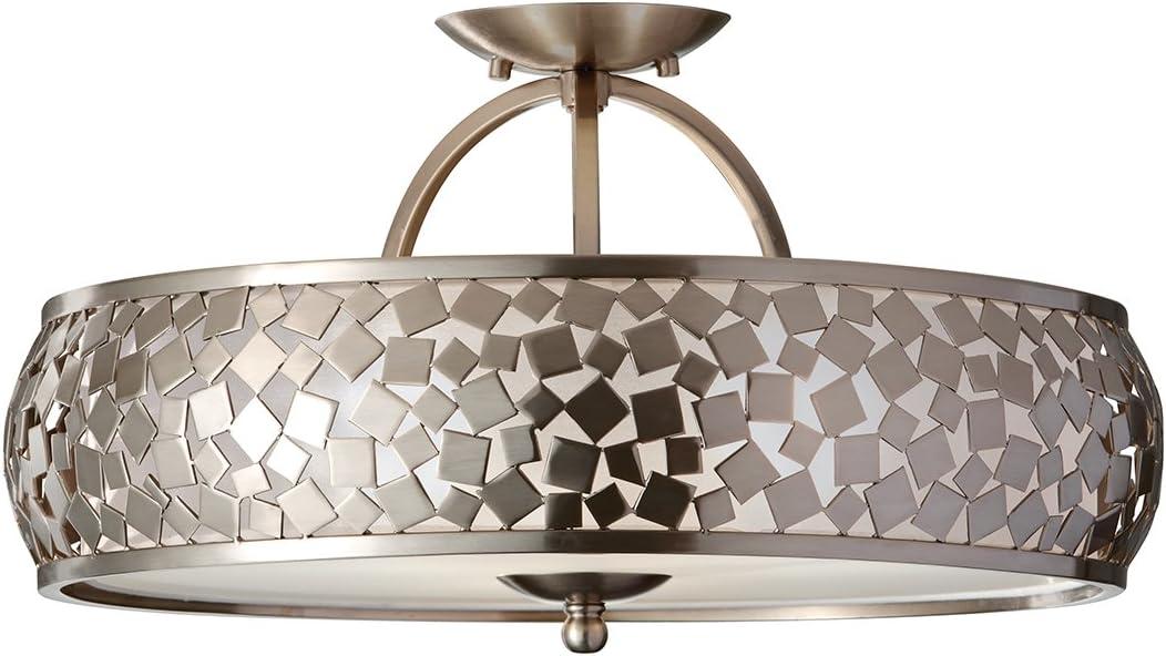 Feiss Zara Semi-Flush Light: Amazon.es: Iluminación