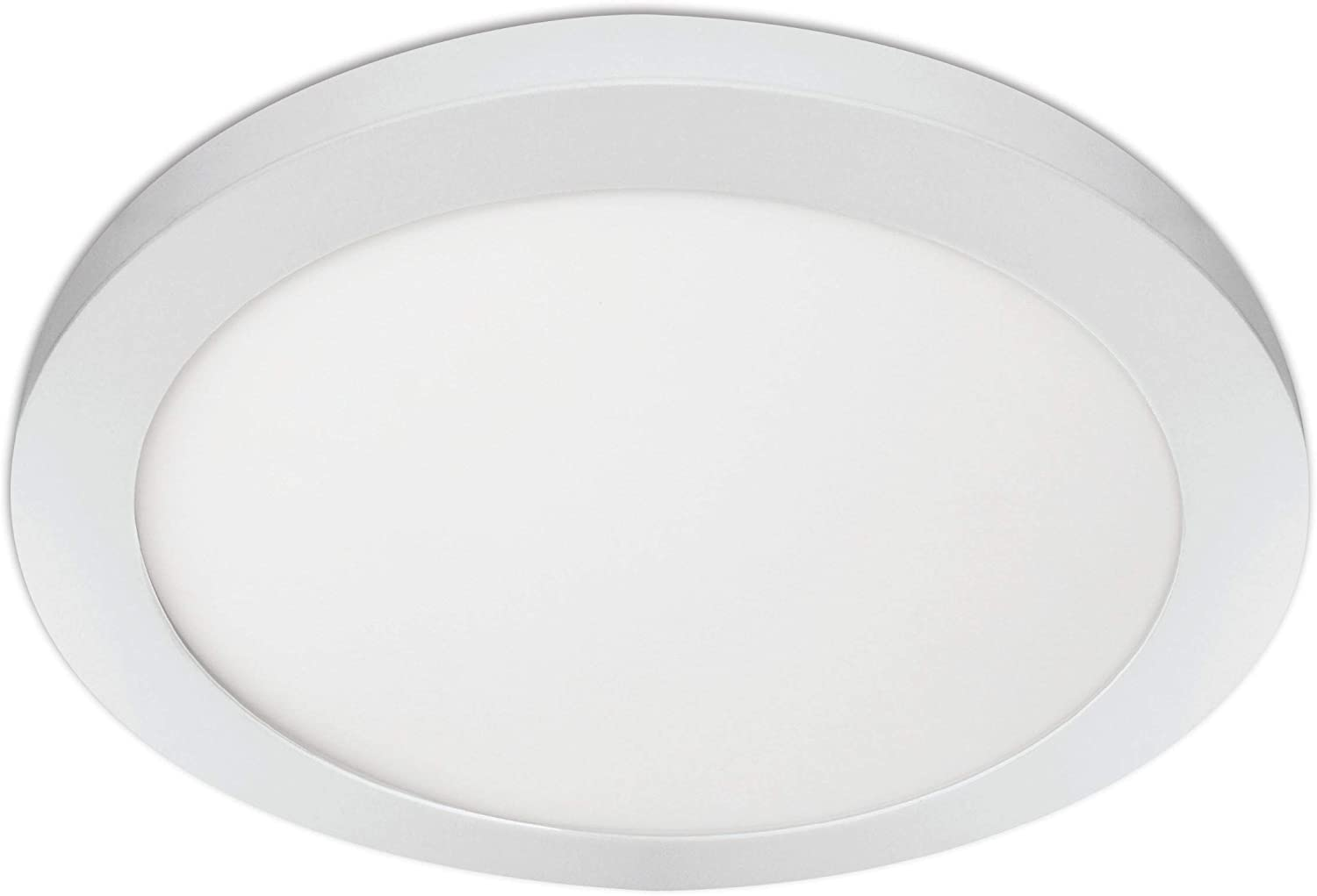 """Feit Electric 74210 11"""" Round, Edge-Lit, Color Selectable 3 in 1(Soft Bright White/Daylight) for Home, Office, Commercial LED Recessed Ceiling Flat Panel Light, 3000K/4000K/5000K"""