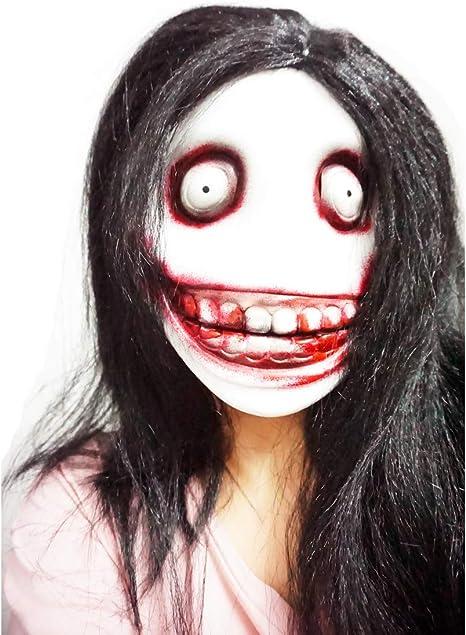 MISS C Máscara de látex Jeff The Killer para Disfraz de Halloween ...