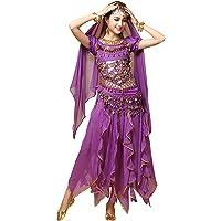 besbomig Profesional Señoras Disfraz de Danza del Vientre
