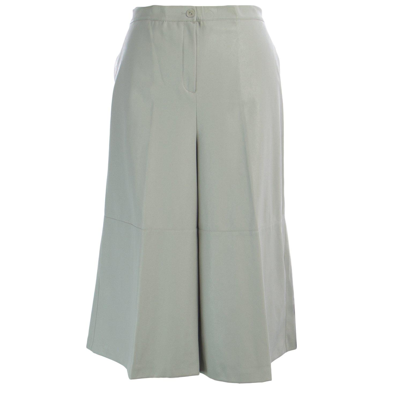 Marina Rinaldi Women's Rabat Faux Leather Culottes 22W / 31 Grey