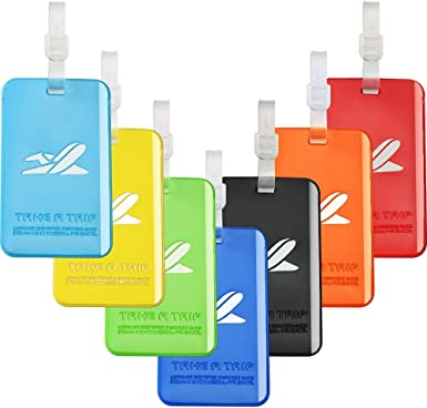 7 Colors Silicone Bright Color Flexible Travel Luggage Tag Suitcase Label