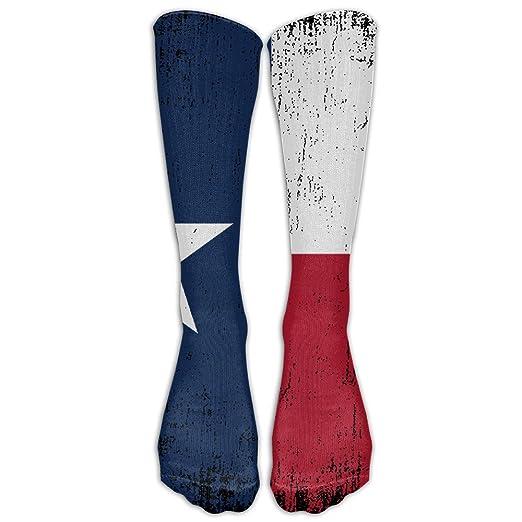 514fb5b3f Amazon.com  DaSOC Texas State Flag Distressed Unisex Novelty Knee High Socks  Athletic Tube Stockings One Size  Clothing