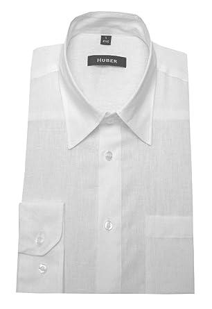 HUBER Leinen Hemd weiß feines Halbleinen 0420 bequeme Passform S bis 6XL   Amazon.de  Bekleidung b3bbbabad9