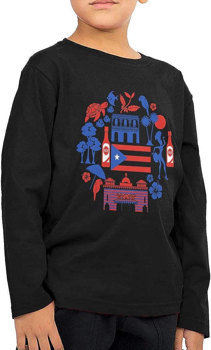 Toddler Puerto Rico Icon ComfortSoft Long Sleeve Shirt