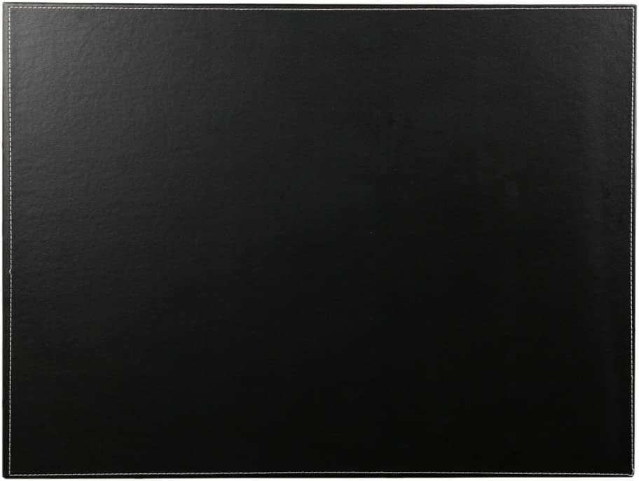 "KINGFOM Desk Pad & Mat 24"" x 18"" Protector Large Mouse Pad PU Leather for Desktops and Laptops (Black)"