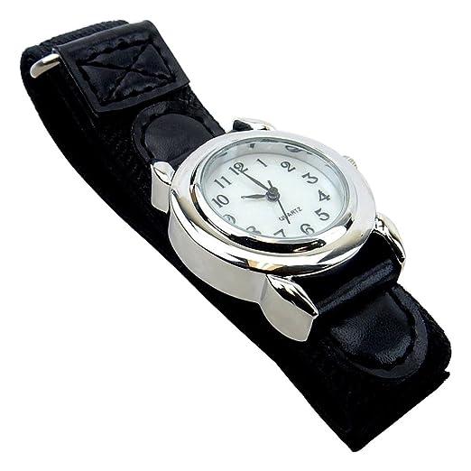 Reloj de muñeca iluminado, correa de cuarzo de segunda mano, fácil de poner y quitar, L4470: Amazon.es: Relojes