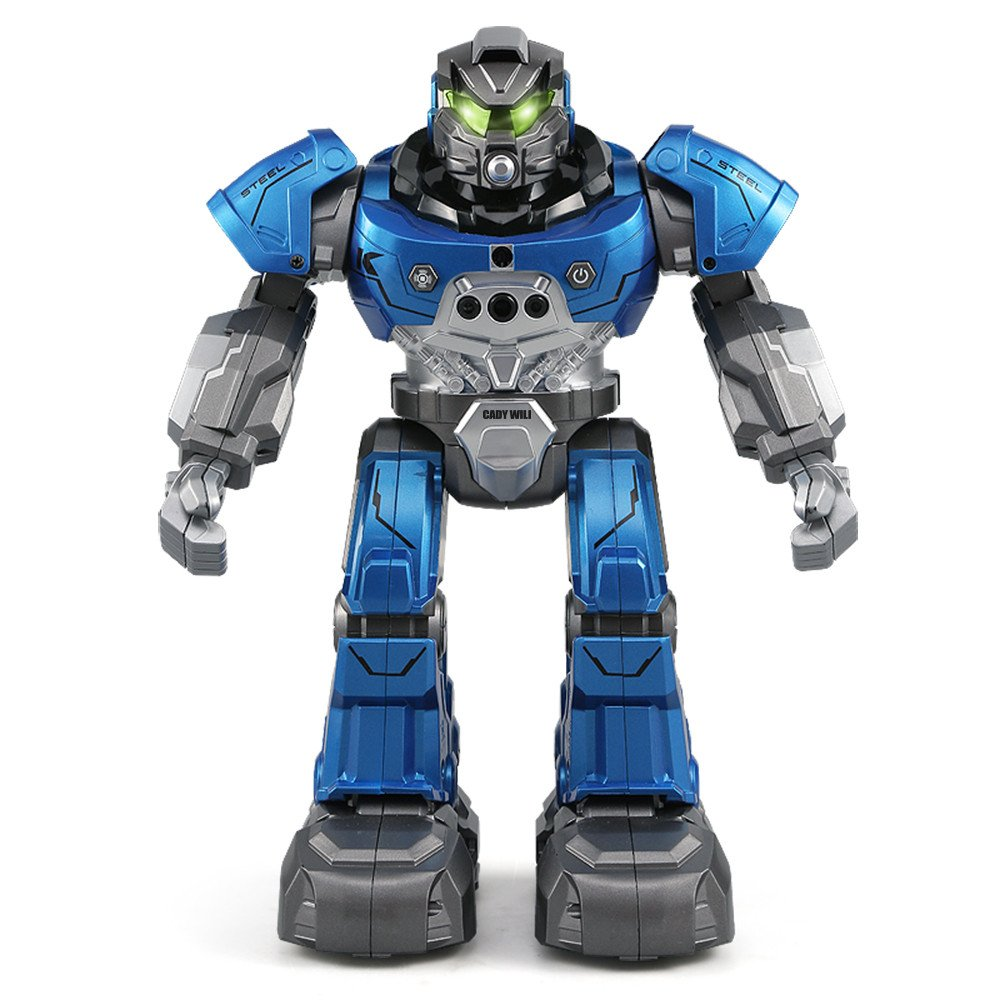 Gbell JJRC R5 Interactive RC Smart Robot with Walking Singing Dancing Auto-Follow Gesture Sensor Robot Toys with Two Control Modes Gifts for Kids Boys Girls (Blue) by Gbell (Image #1)