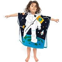 FLORICA Kid's Hooded Bath/Beach Towel 100% Cotton Hooded Poncho for Toddler Girls Boys Cute Cartoon Robe Towel